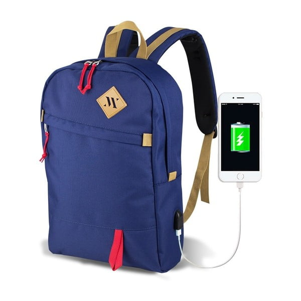 Modrý batoh s USB portom My Valice FREEDOM Smart Bag