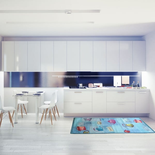 Vysoce odolný kuchyňský koberec Webtappeti Pots,60x140cm