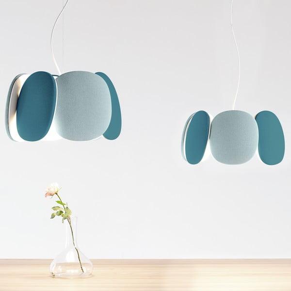 Stropní světlo Bloemi Petroleum Green/Light Blue, 45 cm