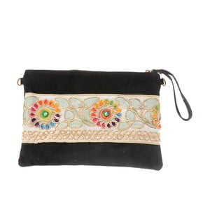 Béžovočerná kožená kabelka Tina Panicucci Nero