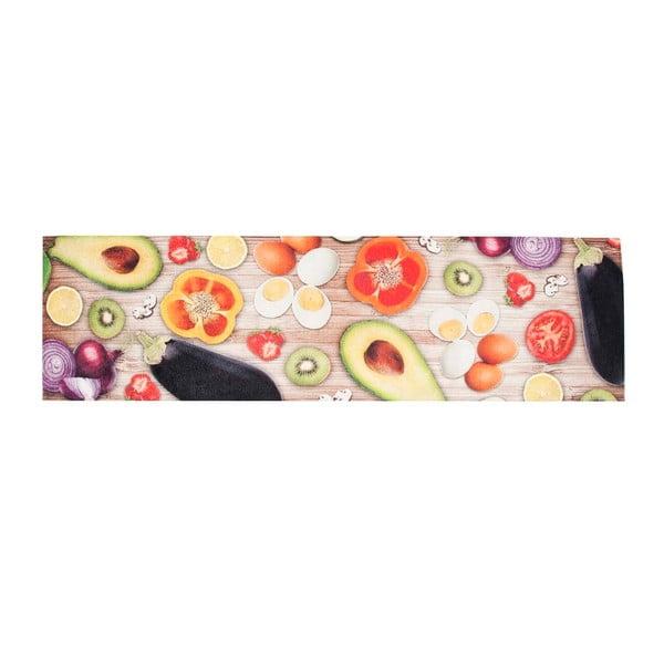 Vysoce odolný kuchyňský koberec Webtappeti Food, 60x300 cm