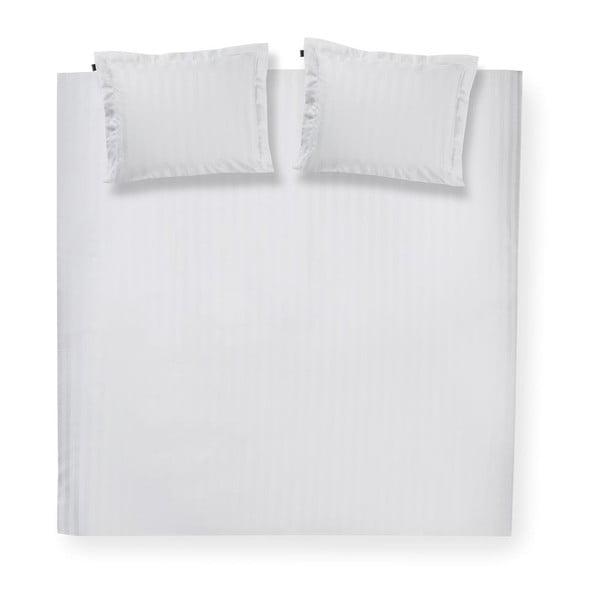 Bílé bavlněné povlečení na dvoulůžko Damai Linea White, 200x240cm