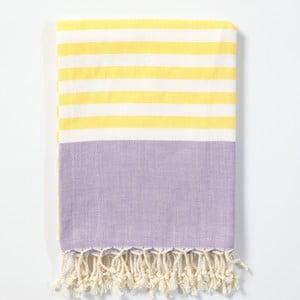 Hamam osuška z ručně tkané bavlny ZFK Hanne, 170x100cm