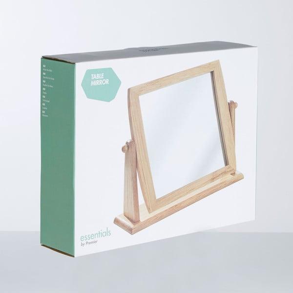 Zrcátko s dřeveným rámem Table Mirror, 9 cm