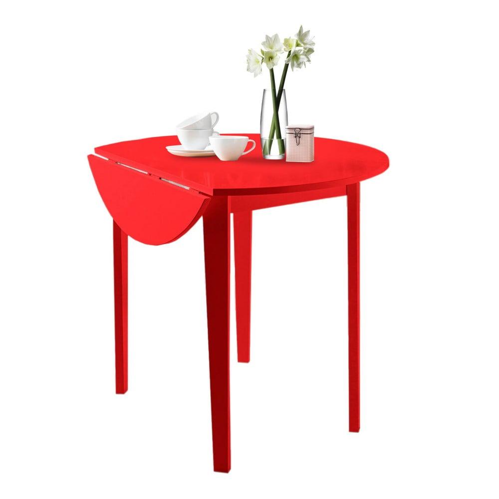 Červený skládací jídelní stůl Støraa Trento Quer, ⌀ 92 cm