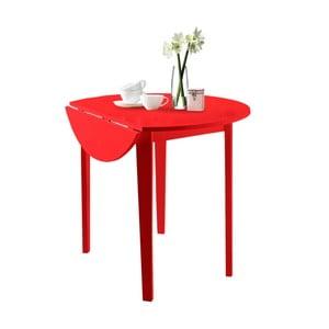Červený skládací jídelní stůl Støraa Trento Quer, ⌀92cm