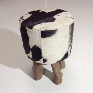 Taburetka Colo Hocker, černá/bílá
