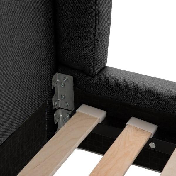 Černá postel s černými nohami Vivonita Windsor,160x200cm