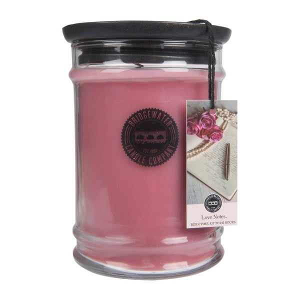 Vonná svíčka ve skleněné dóze Bridgewater Candle Company Love Notes, doba hoření 140-160 hodin