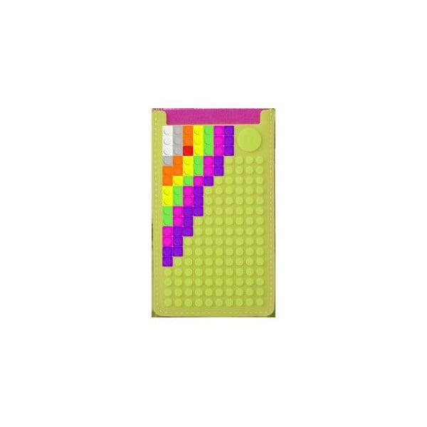 Univerzální malý obal na telefon PixelArt, fuchsia/apple green
