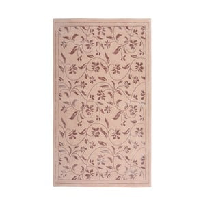 Růžový koberec Floorist Florist, 140x200cm