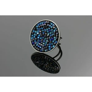 Prsten Swarovski Elements Dark Mirror
