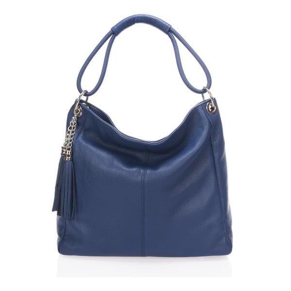 Kožená kabelka Markese 5008 Navy, modrá