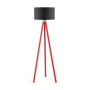 Stojací lampa s černým stínítkem Kate Louise Redish