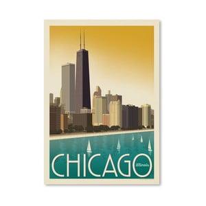 Plakát Americanflat Chicago Sky, 42 x 30 cm