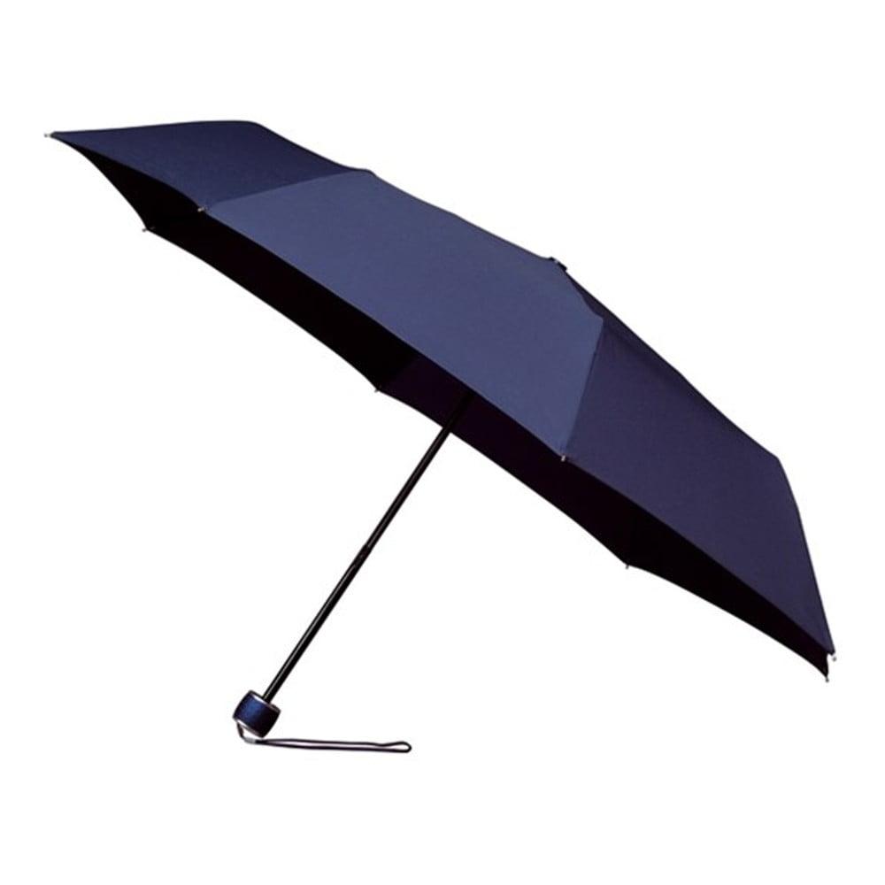 Větruodolný modrý skládací deštník Ambiance Mini-Max, ⌀ 100 cm