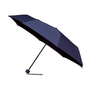 Větruodolný modrý skládací deštník Ambiance Mini-Max, ⌀100cm