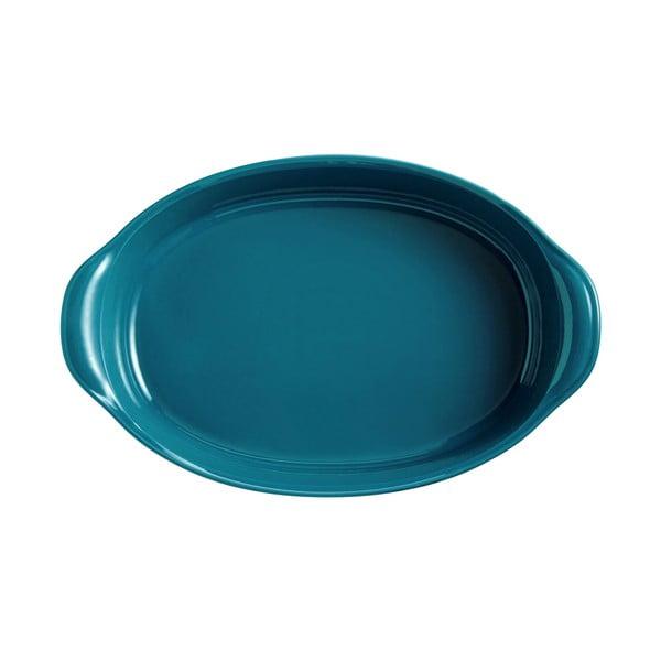 Tavă ovală pentru copt Emile Henry, 3,8 l, albastru turcoaz
