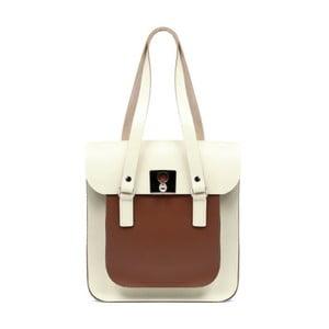 Velká krémová kožená kabelka Brix + Bailey Rosemont