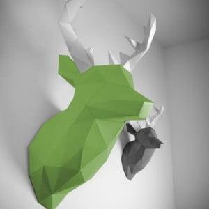 Papírová trofej Jelen XL, zeleno-bílý