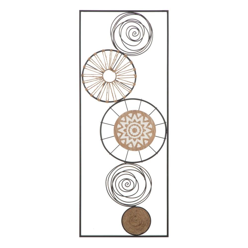 Nástěnná kovová dekorace Mauro Ferretti Masai A, 35x90cm