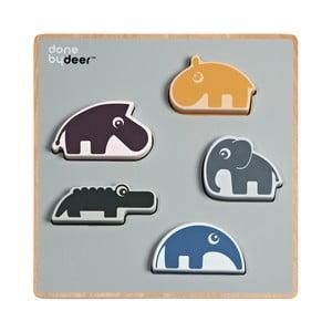 Dřevěné hrací puzzle Done by Deer Chunky