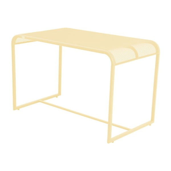 Žlutý kovový balkónový stolek ADDU MWH, 63x110cm