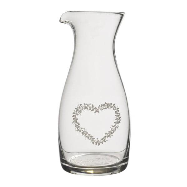 Skleněná karafa Heart