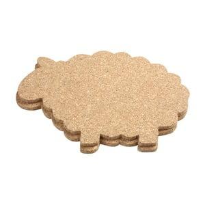 Set 2 suporturi veselă, din plută  T&G Woodware Cork Sheep