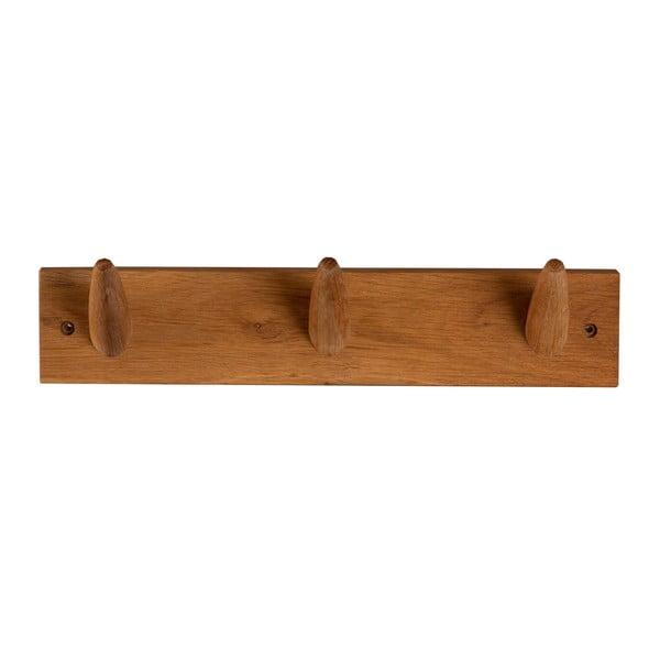 Wieszak ścienny z litego drewna dębowego Canett Uno, dł. 40 cm