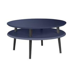 Grafitově šedý konferenční stolek s černými nohami Ragaba UFO, Ø70cm