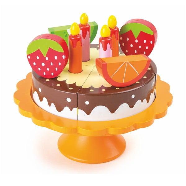 Dřevěný narozeninový dort na hraní Legler