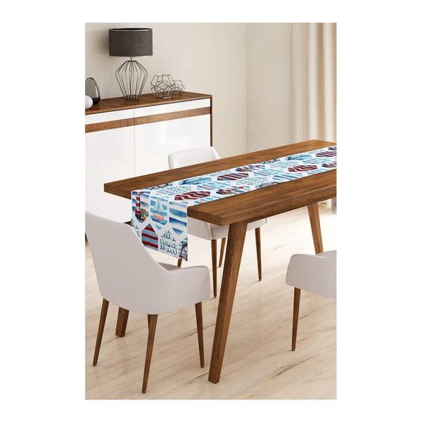 Napron din microfibră pentru masă Minimalist Cushion Covers Navy Life, 45x145cm