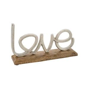 Dekorace s dřevěným podstavcem Ego Dekor Love, výška 17,5 cm