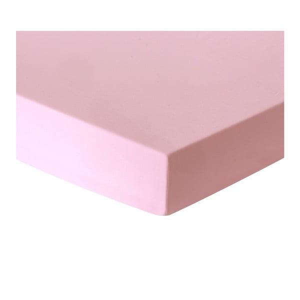 Baby Lilen Pink rózsaszín egyszemélyes lepedő, 100 x 175 cm