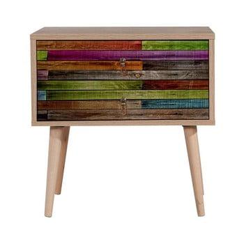 Noptieră din lemn Iris Rainbow