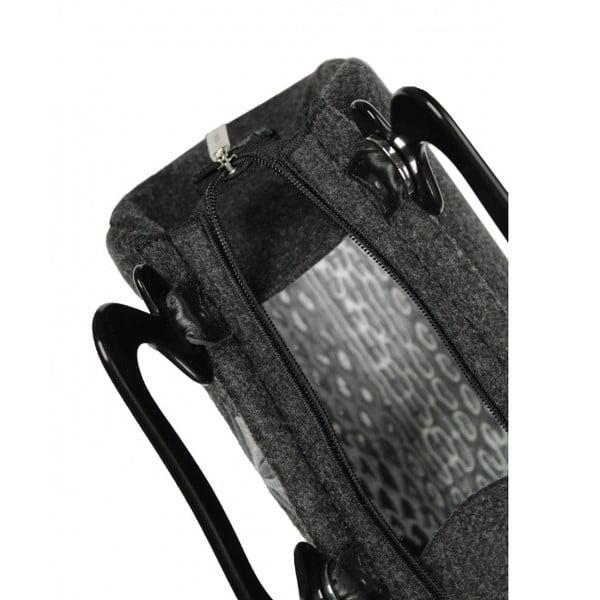 Plstěná vyšívaná kufříková kabelka Goshico Destiny