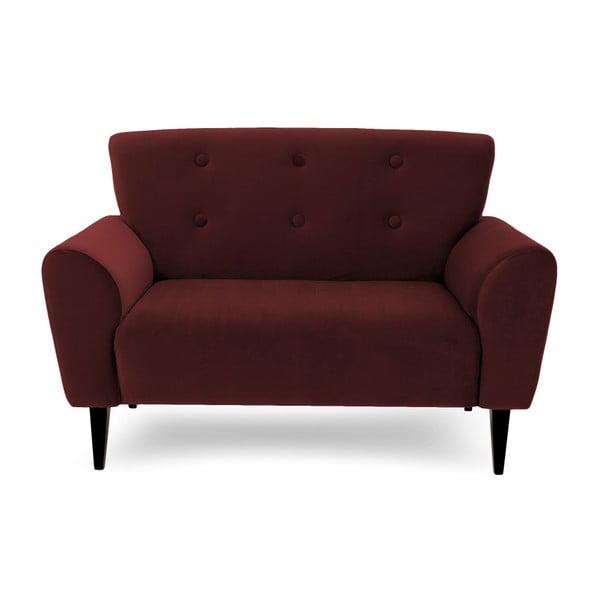 Ciemnoczerwona 2-osobowa sofa Vivonita Kiara