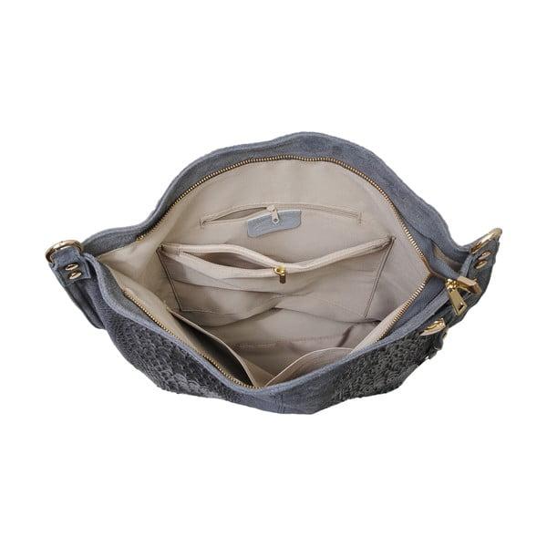 Šedá kožená kabelka Andrea Cardone 2001