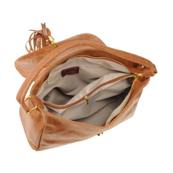 Kožená kabelka Emilio Masi Diadema, hnědá