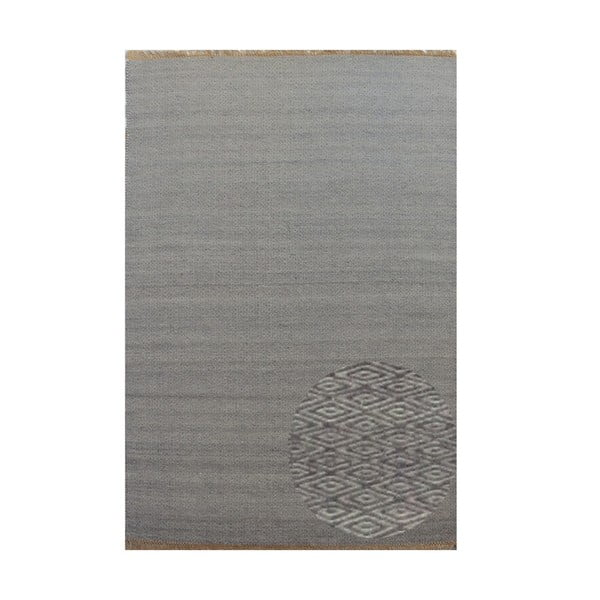 Vlněný koberec Kyla Grey, 80x300 cm