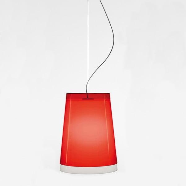 Červené závěsné svítidlo Pedrali L001S/AA