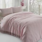 Lehký bavlněný přehoz přes postel Pique Powder,220x240cm
