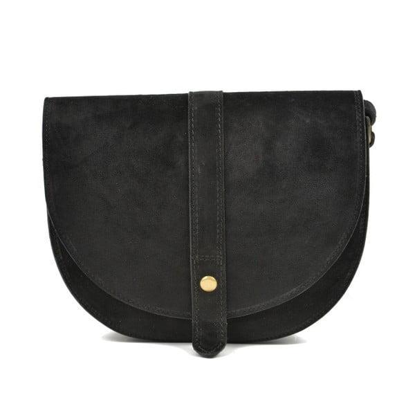 Čierna kožená kabelka Anna Luchini Purrio