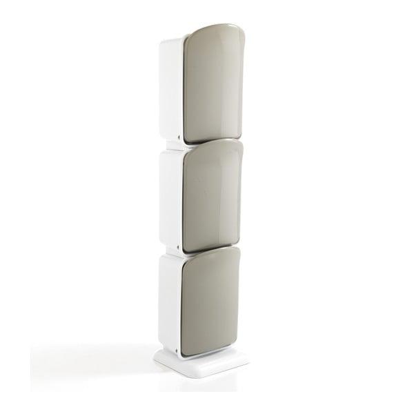 Coș cu 3 compartimente pentru materiale reciclabile Tomasucci Riky, înălțime 125 cm