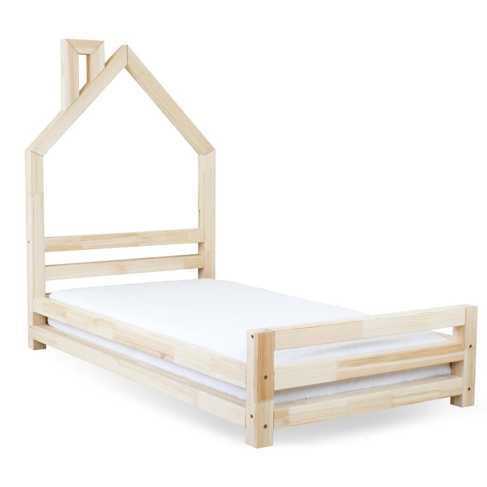 Dětská postel z přírodního borovicového dřeva Benlemi Wally, 80 x 160 cm