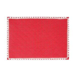 Prostírání Basic Hearts 50x33 cm, červené