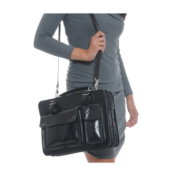 Kožená kabelka Isabella Rhea 305, černá