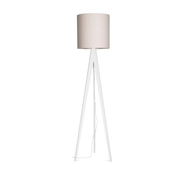 Stojací lampa Artist Grey Linnen/White, 125x33 cm