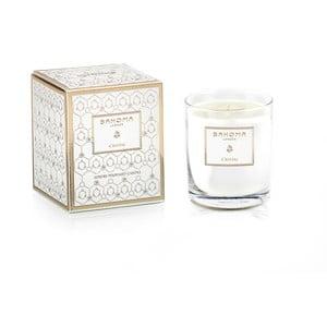 Vonná svíčka ve skle s vůní yland yland a jasmínu Bahoma London Cristal, 75 hodin hoření
